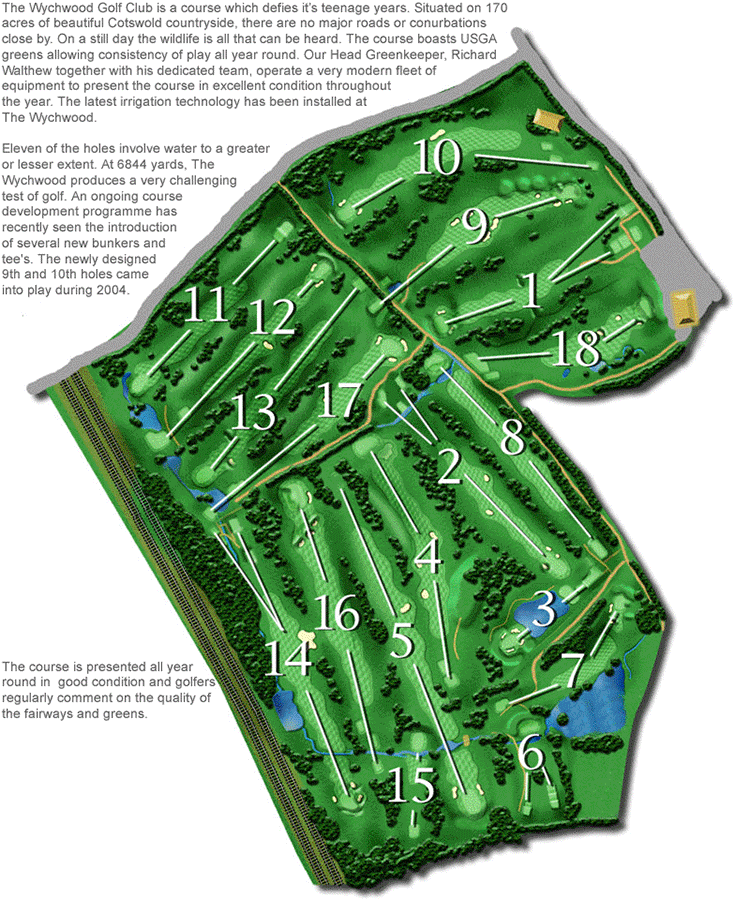 Plan of Wychwood Golf Course