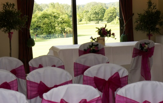 Civil Ceremony overlooking the 18th fairway