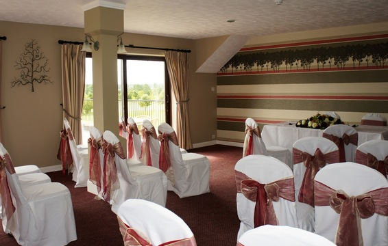 Civil Ceremony in the balcony Oak Room