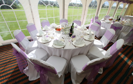 Wedding Reception Marquee dining